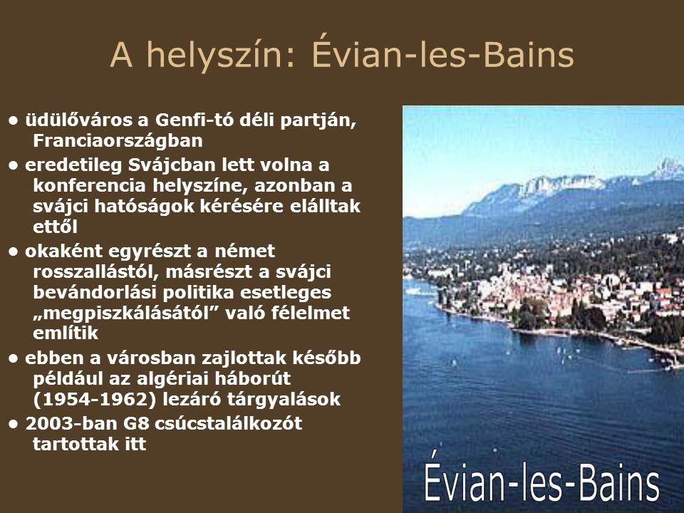 A helyszín: Évian-les-Bains