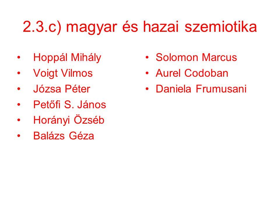 2.3.c) magyar és hazai szemiotika