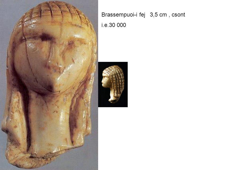 Brassempuoi-i fej 3,5 cm , csont
