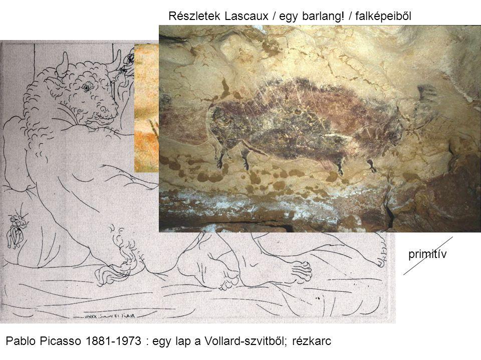 Részletek Lascaux / egy barlang! / falképeiből