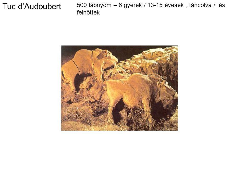 Tuc d'Audoubert 500 lábnyom – 6 gyerek / 13-15 évesek , táncolva / és felnőttek