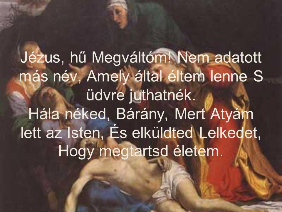Jézus, hű Megváltóm. Nem adatott más név, Amely által éltem lenne S üdvre juthatnék.