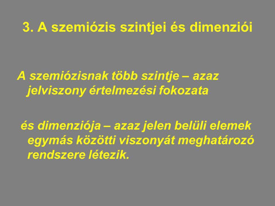 3. A szemiózis szintjei és dimenziói