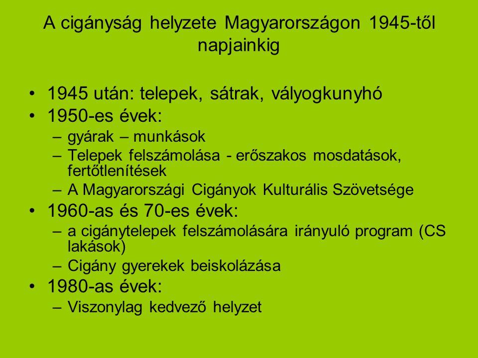 A cigányság helyzete Magyarországon 1945-től napjainkig