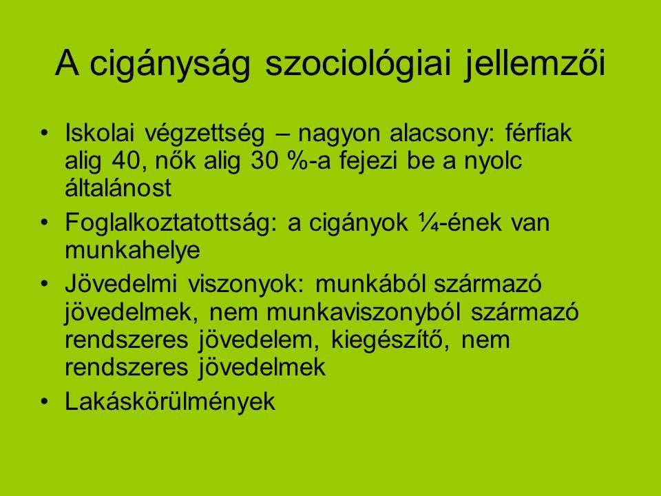 A cigányság szociológiai jellemzői