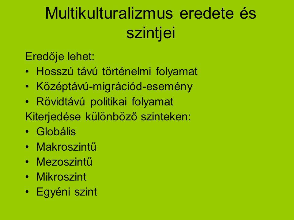 Multikulturalizmus eredete és szintjei