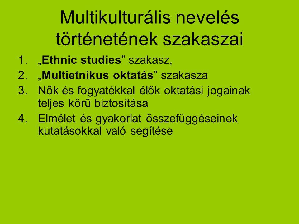 Multikulturális nevelés történetének szakaszai