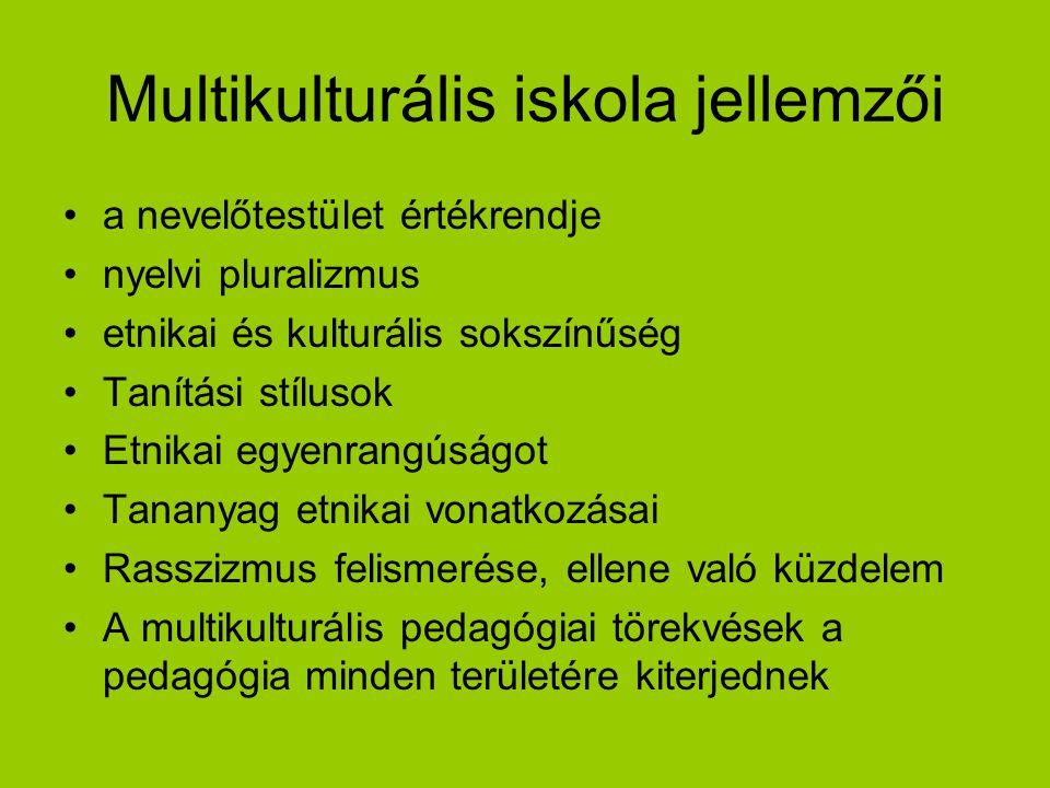 Multikulturális iskola jellemzői