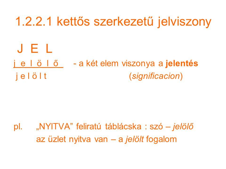 1.2.2.1 kettős szerkezetű jelviszony