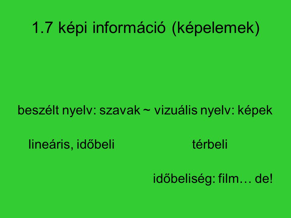 1.7 képi információ (képelemek)