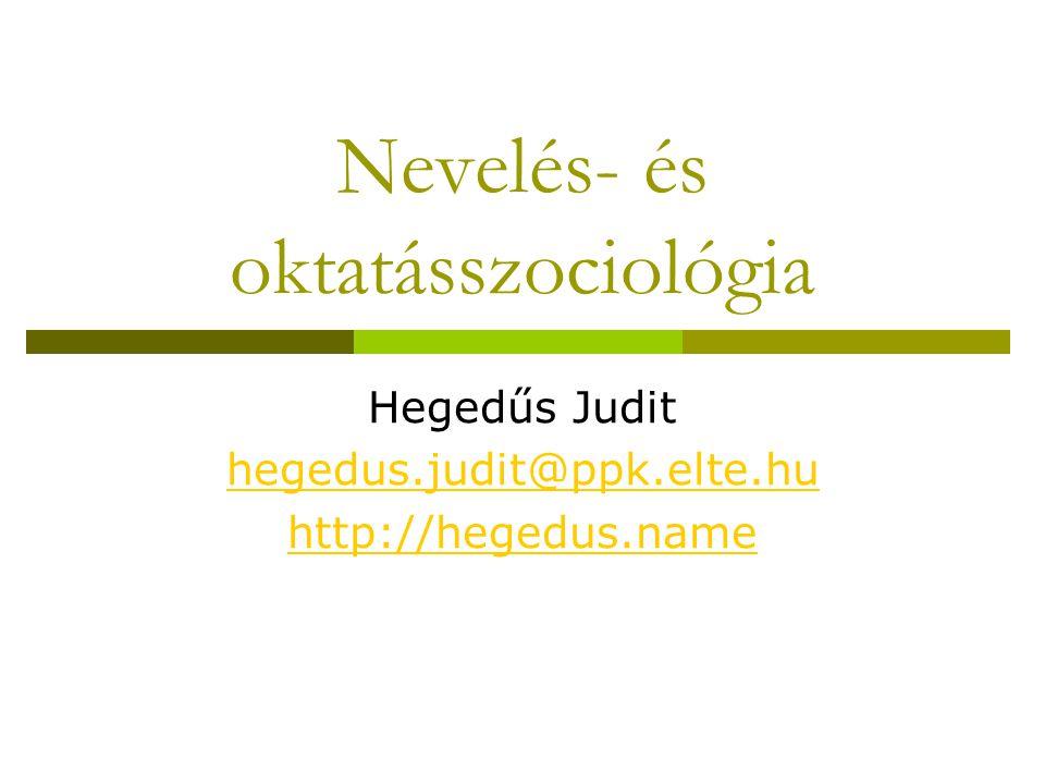 Nevelés- és oktatásszociológia