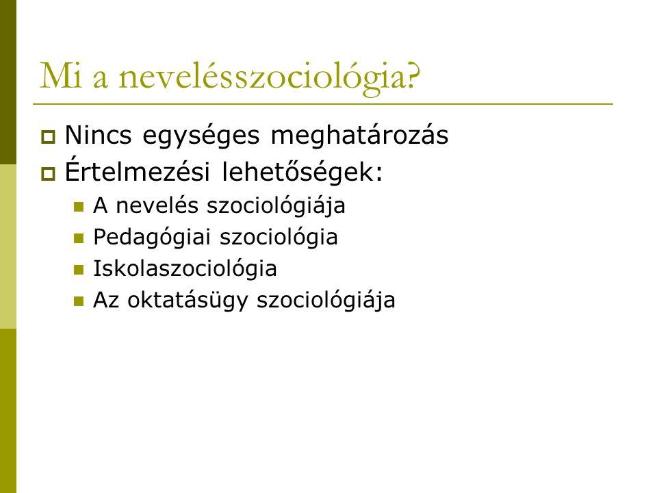 Mi a nevelésszociológia