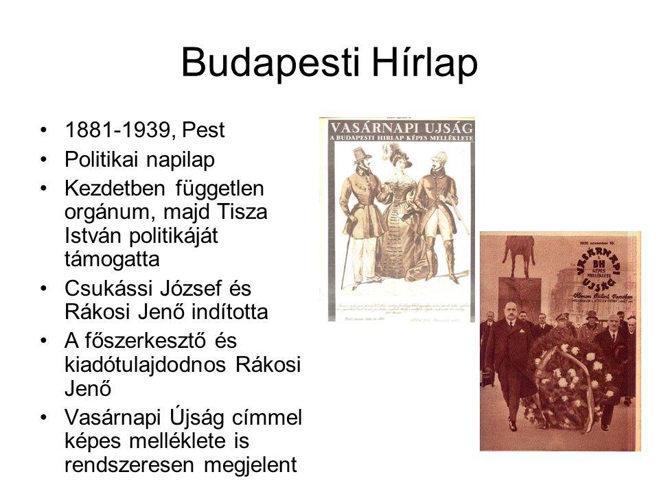 Budapesti Hírlap 1881-1939, Pest Politikai napilap