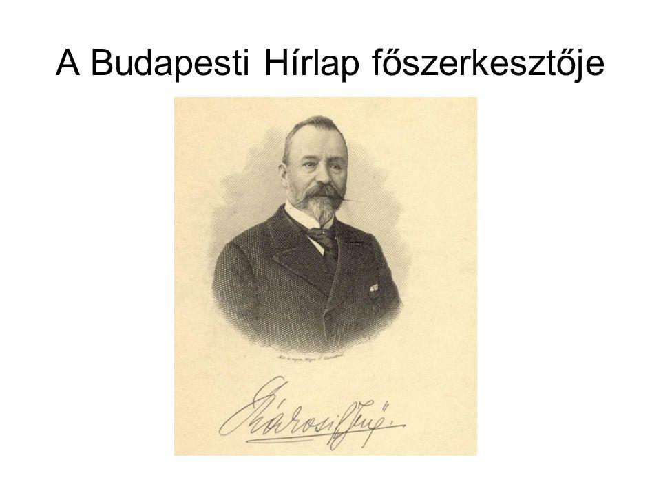 A Budapesti Hírlap főszerkesztője