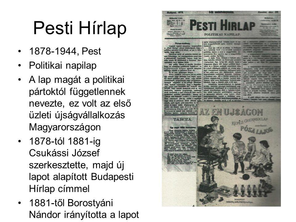 Pesti Hírlap 1878-1944, Pest Politikai napilap