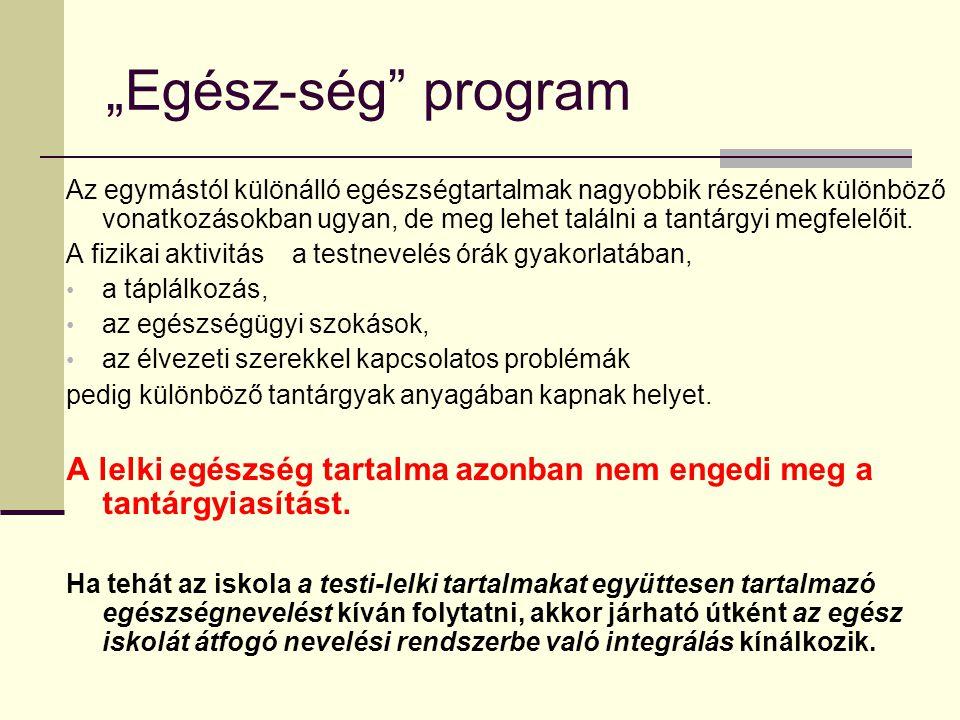 """""""Egész-ség program"""