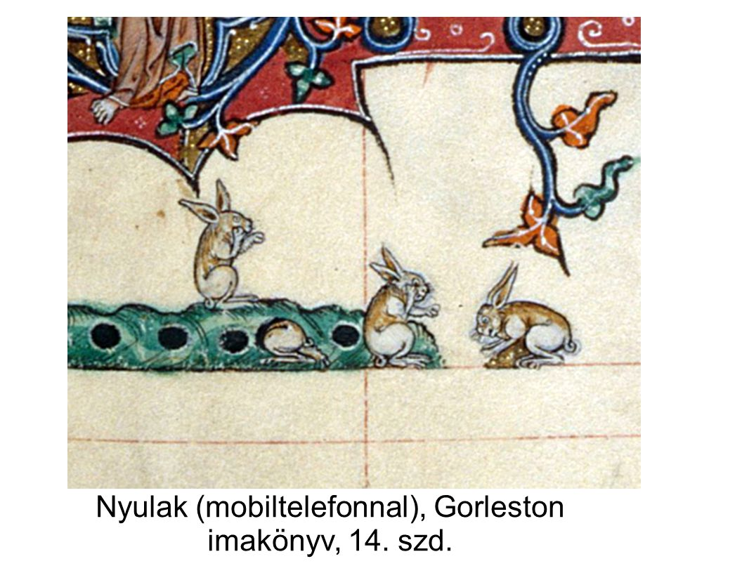 Nyulak (mobiltelefonnal), Gorleston imakönyv, 14. szd.
