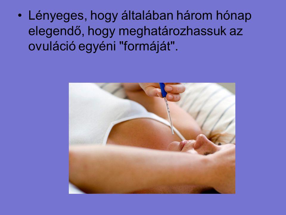 Lényeges, hogy általában három hónap elegendő, hogy meghatározhassuk az ovuláció egyéni formáját .