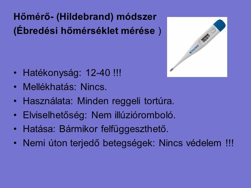 Hőmérő- (Hildebrand) módszer