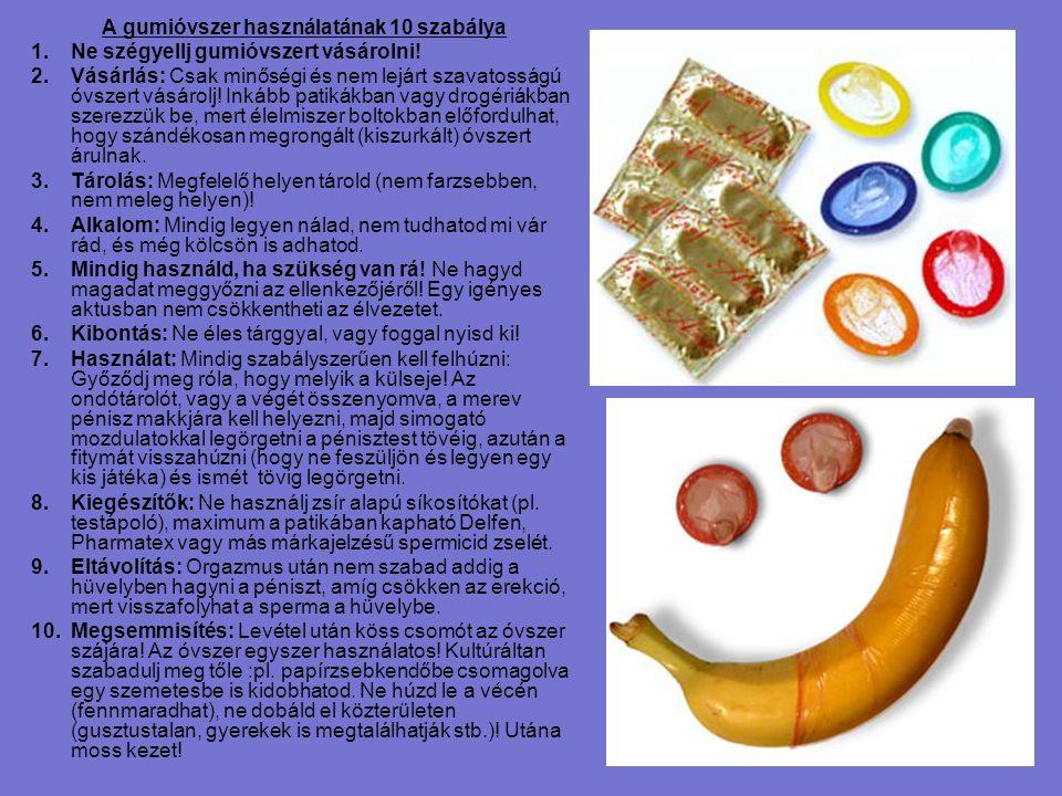 A gumióvszer használatának 10 szabálya