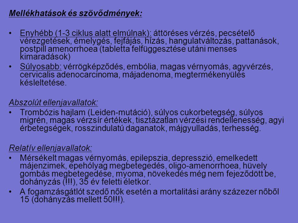 Mellékhatások és szövődmények: