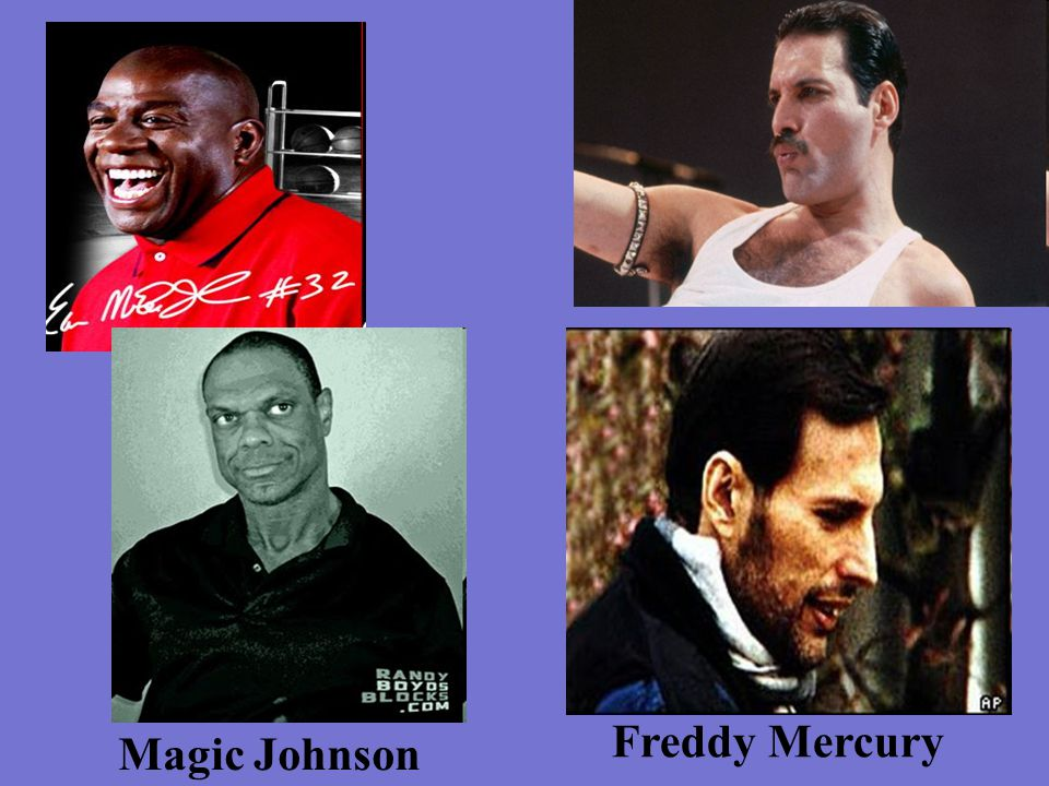 Freddy Mercury Magic Johnson