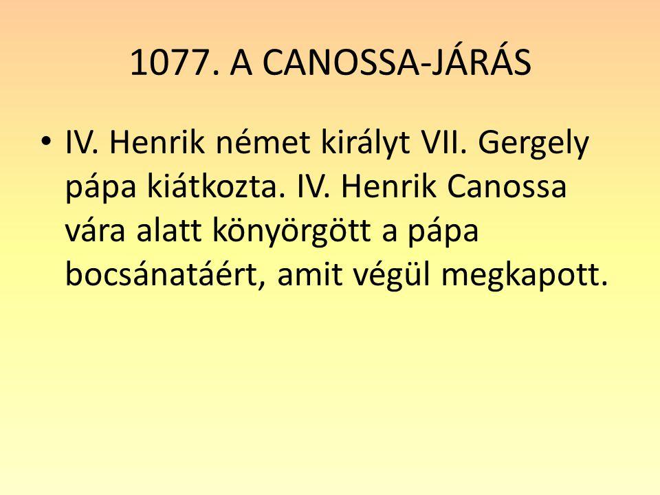 1077. A CANOSSA-JÁRÁS
