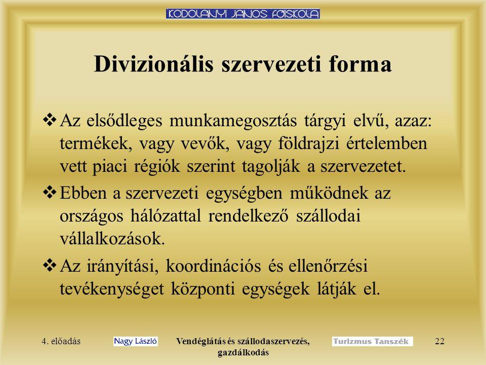 Divizionális szervezeti forma