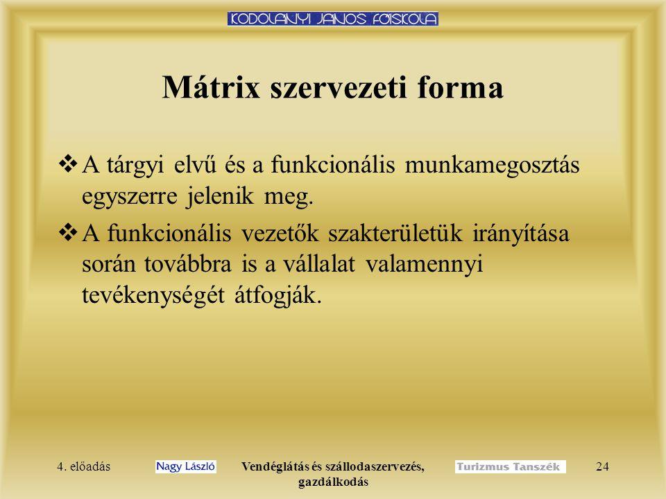 Mátrix szervezeti forma