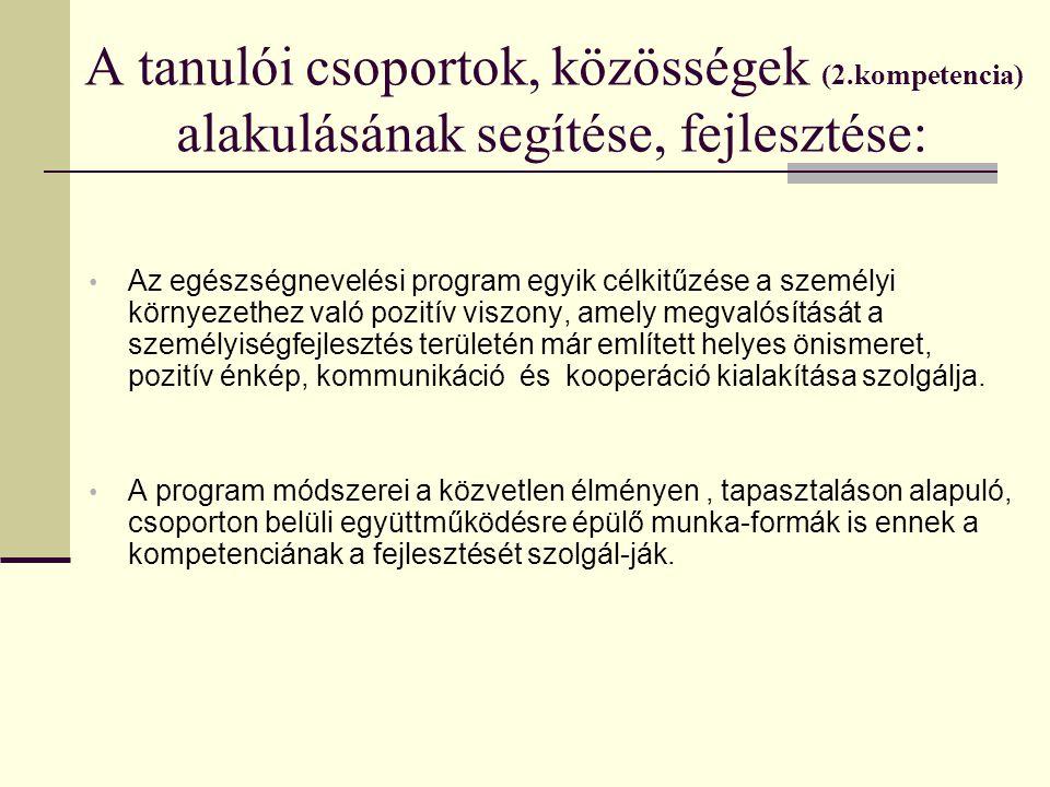 A tanulói csoportok, közösségek (2