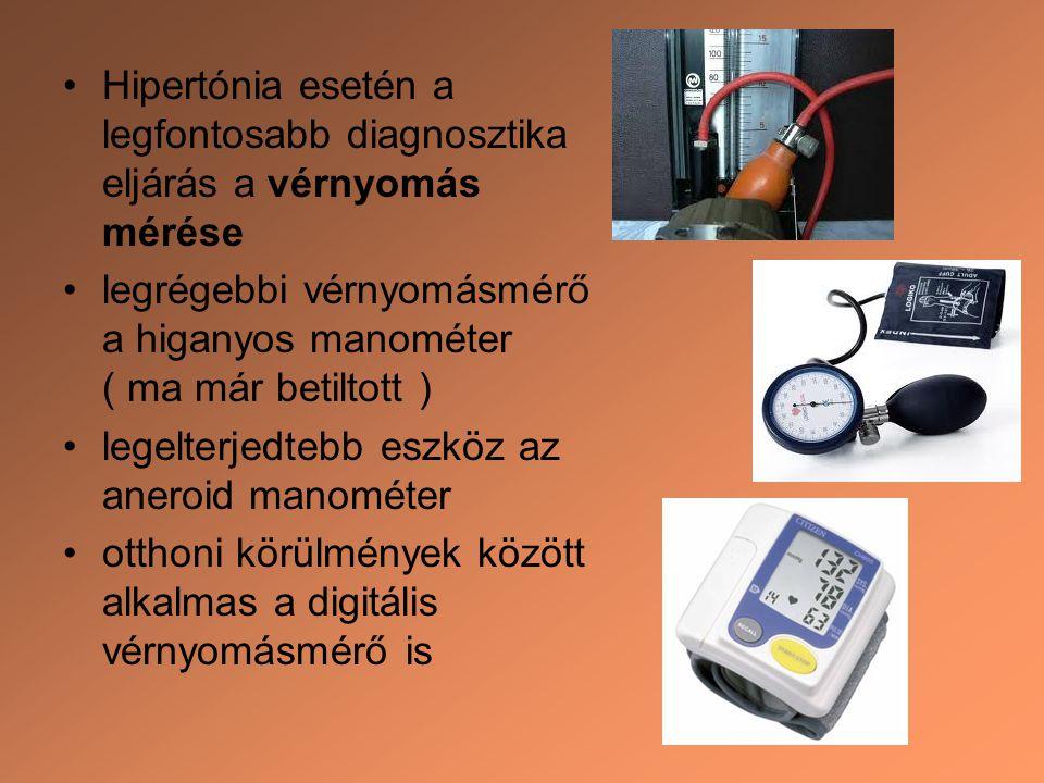 Hipertónia esetén a legfontosabb diagnosztika eljárás a vérnyomás mérése