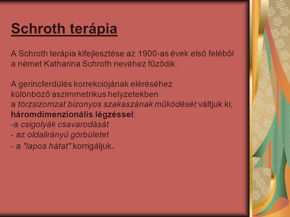 Schroth terápia A Schroth terápia kifejlesztése az 1900-as évek első feléből