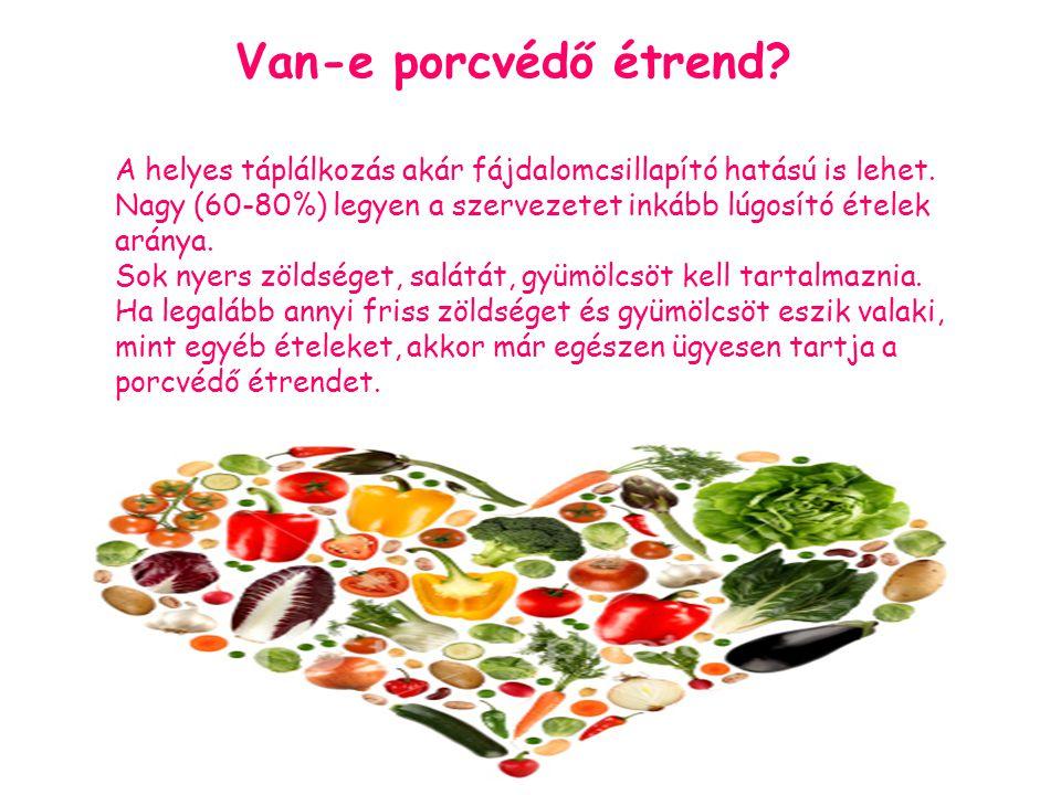 Van-e porcvédő étrend A helyes táplálkozás akár fájdalomcsillapító hatású is lehet.