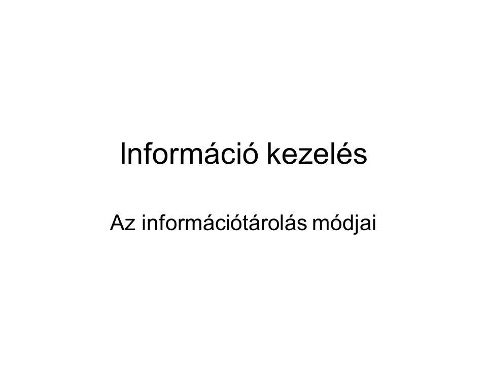 Az információtárolás módjai