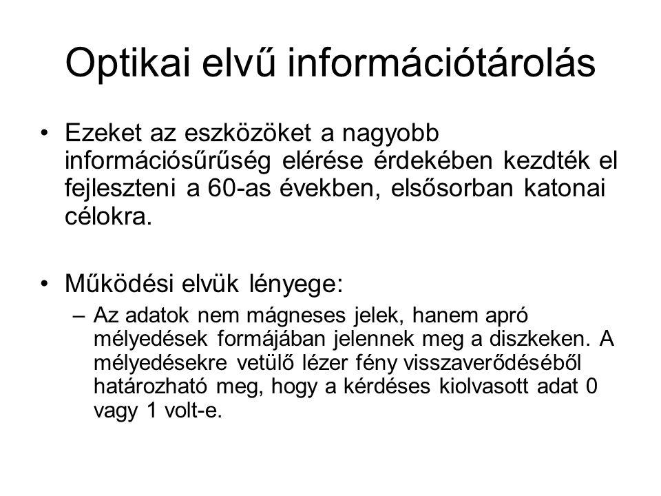 Optikai elvű információtárolás