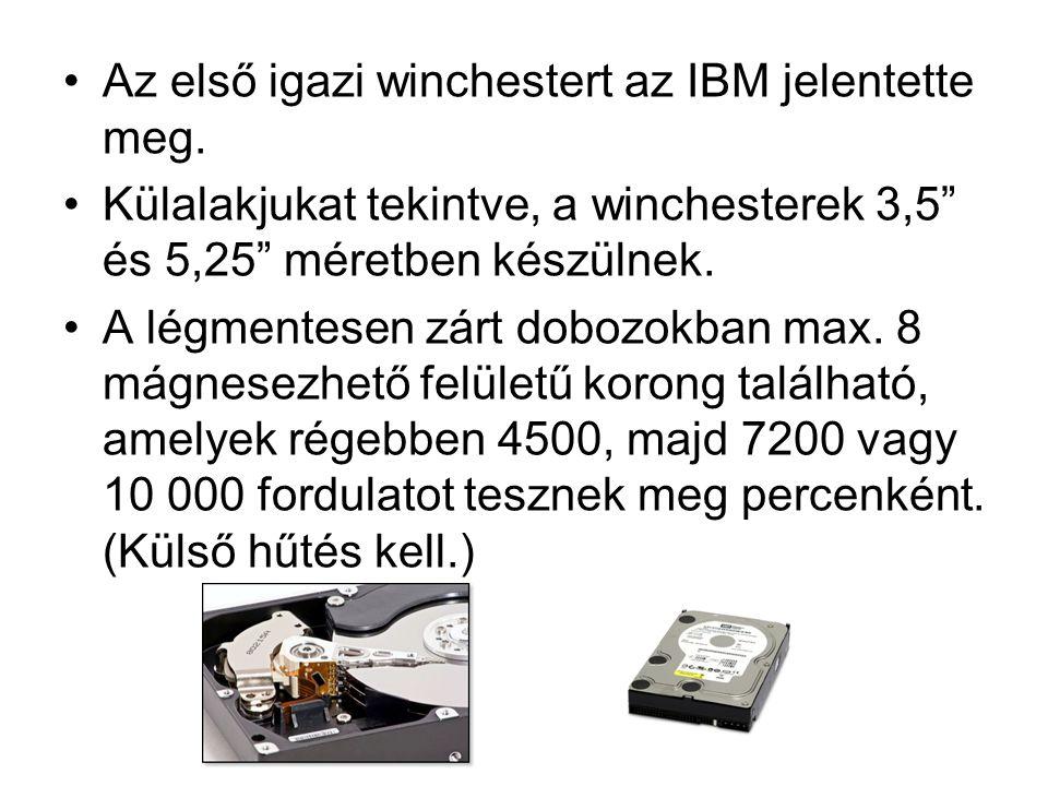 Az első igazi winchestert az IBM jelentette meg.