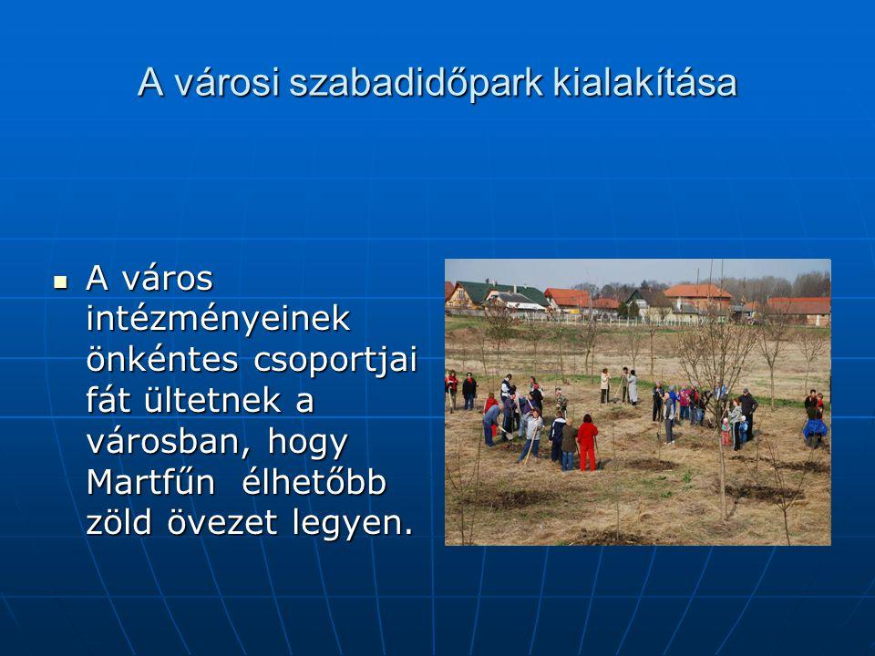 A városi szabadidőpark kialakítása