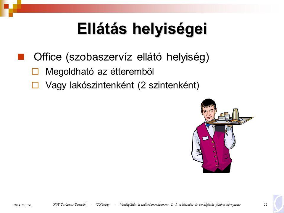 Ellátás helyiségei Office (szobaszervíz ellátó helyiség)