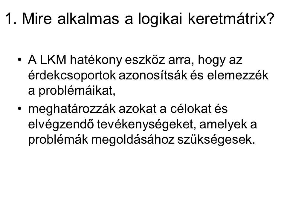 1. Mire alkalmas a logikai keretmátrix