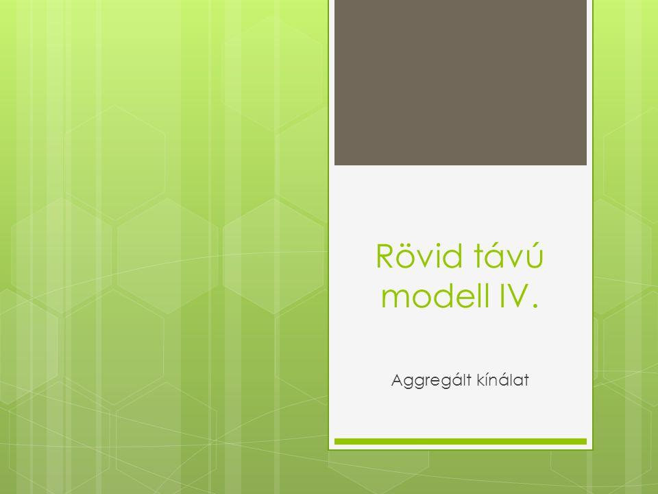 Rövid távú modell IV. Aggregált kínálat