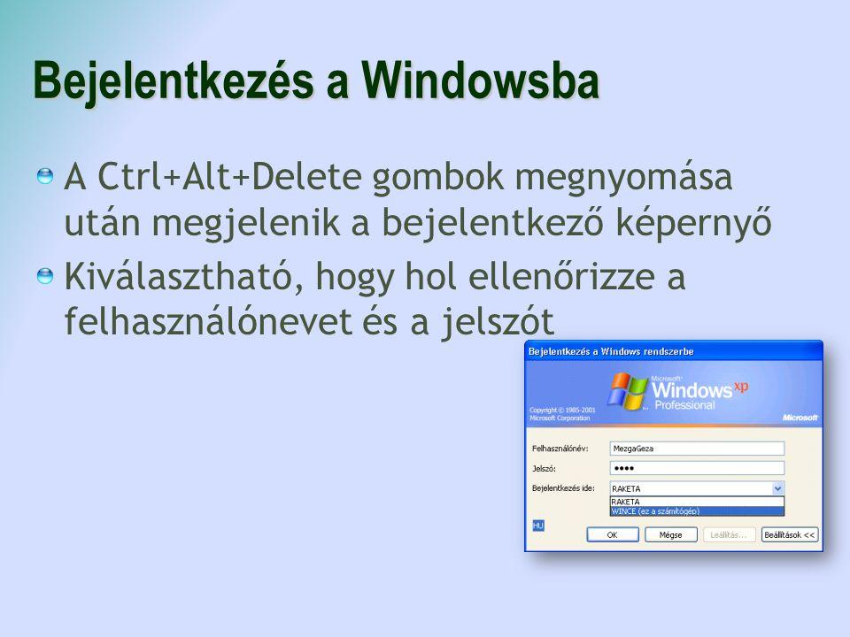 Bejelentkezés a Windowsba