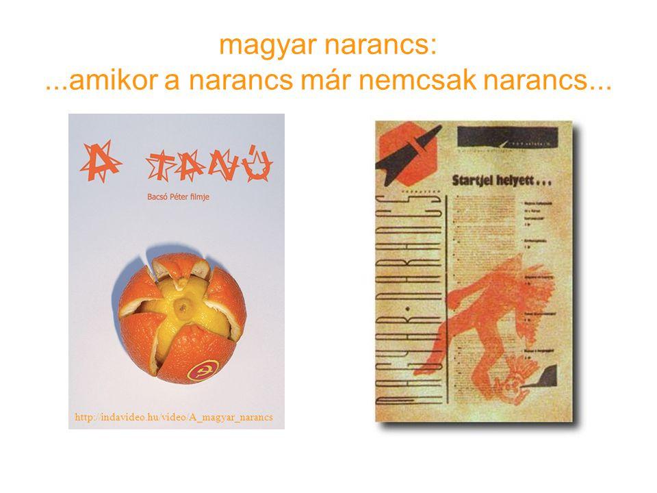 magyar narancs: ...amikor a narancs már nemcsak narancs...
