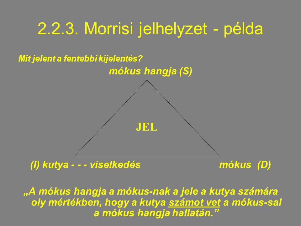 2.2.3. Morrisi jelhelyzet - példa
