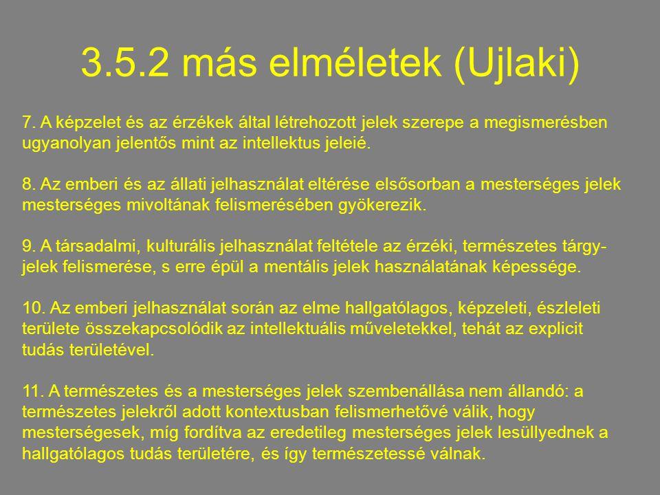 3.5.2 más elméletek (Ujlaki)