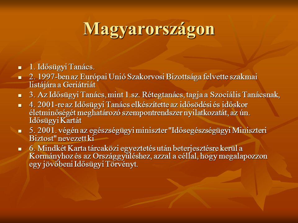 Magyarországon 1. Idősügyi Tanács.