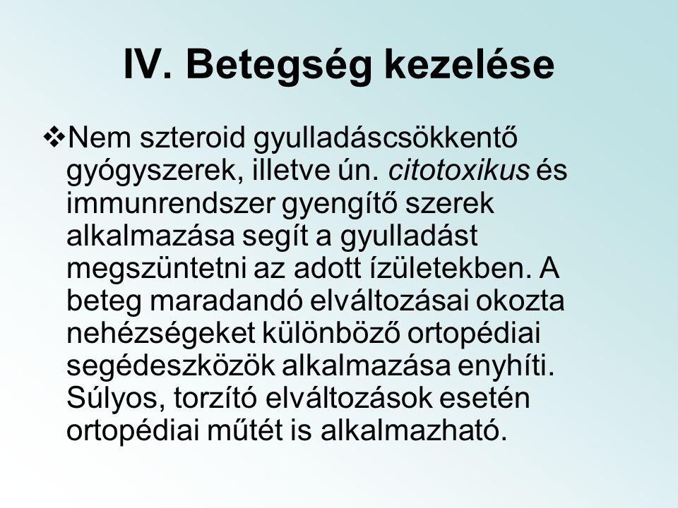 IV. Betegség kezelése