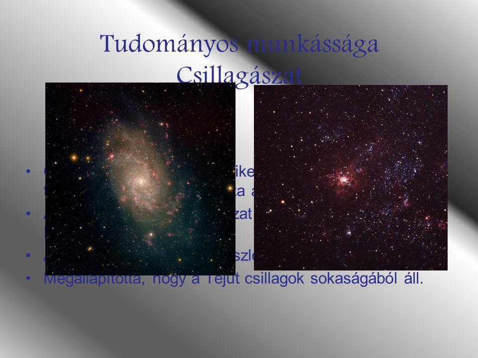 Tudományos munkássága Csillagászat