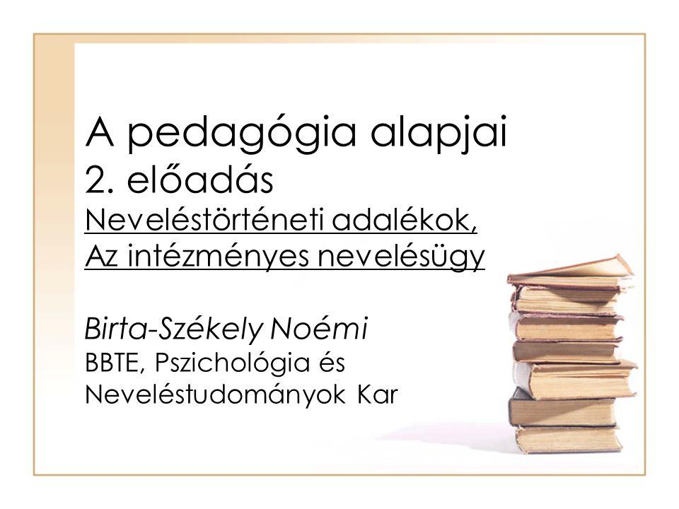 A pedagógia alapjai 2.