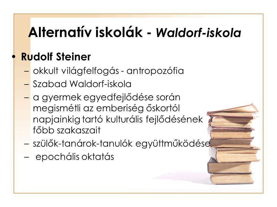 Alternatív iskolák - Waldorf-iskola