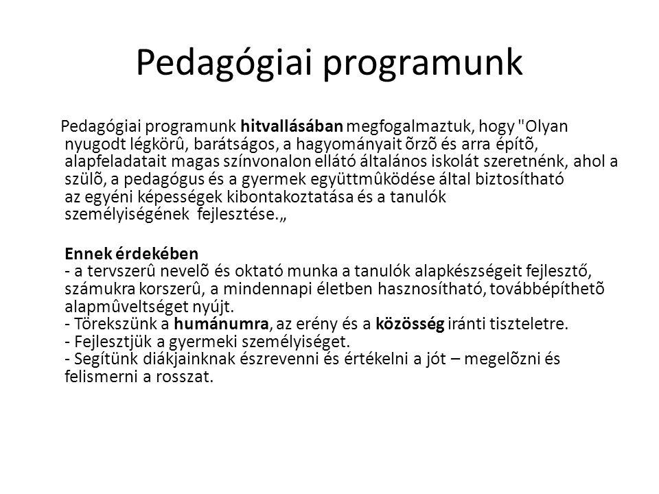 Pedagógiai programunk